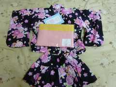 ゆかたドレス  100  女の子 へこ帯付き お買い得品