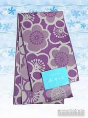 【和の志】浴衣に合わせて◇半幅帯◇紫系・梅柄◇GO-586