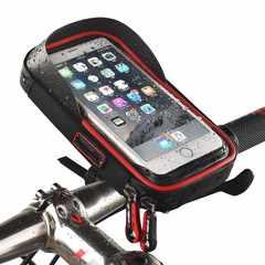 自転車 スマホホルダー バイク スマホスタンド レッド