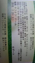 7/28 鷹の祭典 ソフトバンクVS楽天 外野指定3塁ペア