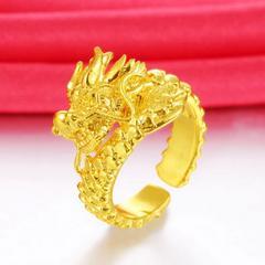 【特A】新作 彫刻 ドラゴン ゴールド リング フリー 新品