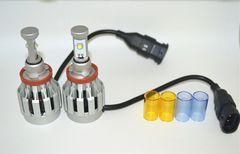 LEDヘッドライト H7 H8 H11 HB4 オールインワン 黄色 白 青白