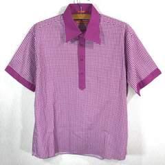 新品 ベンシャーマン 千鳥柄 ポロシャツ L 薄い紫  ukトラッド