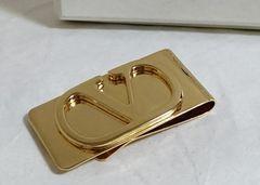 正規美 VALENTINO GARAVANIヴァレンティノガラヴァーニ Vロゴマネークリップ 財布
