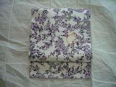 梅花木紋様の 名古屋帯