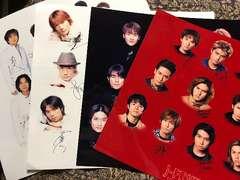 J-FRIENDS メッセージサイン付き大判写真 KinKi Kids TOKIO V6