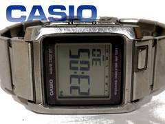 【レア品】CASIO 電波受信モデル レトロ デジタル メンズ腕時計