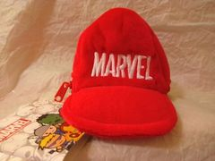 ■MARVEL■帽子型小物入れ・小銭入れカラビナ付き■