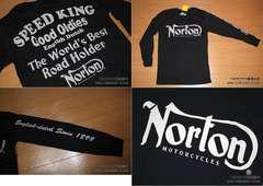 ノートン(NORTON)バイカー系ロングTシャツ Mサイズ 入荷�Q
