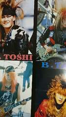 X JAPAN ポスター 1989 hide TAIJI PATA ToshI
