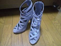 KOBE LETTUCE/神戸レタスあみあみサンダル(薄いグレー)