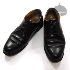 YGG★アダムエロペ レースアップ シューズ 黒 プレーン 靴