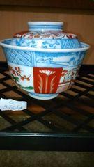 江戸時代→古伊万里→赤絵蓋付き茶碗ーC
