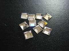 スワロフスキー #2400 4mm クリスタル 10個 スクエア 3087