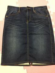 GU デニムのタイトスカート L