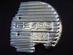 (611)GS400GS400LGS425用メッキスプロケカバーフィンS1