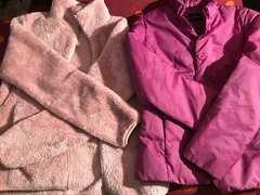UNIQLOユニクロフリースジヤケット紫色ダウン入2枚共サイズM
