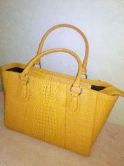 クロコダイルバッグ黄色
