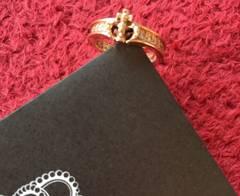 18K×ダイヤ◆JUSTIN DAVIS◆Chelsea Band Ring◆9号◆クロム