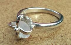 新品天然石クラウンリング*ローズクォーツストーン*シルバー指輪