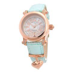 アレサンドラオーラハートチャームレディース 腕時計 ブルー