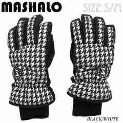 マシャロMASHALOスノーグローブ スキー レディース MSG-616 B/W