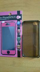iPhoneSE・5・5S・5C用ラバーケース・画面フィルムセット