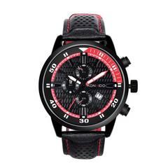 腕時計 メンズ 日本製クォーツ レッド