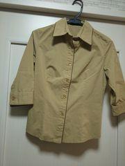 セシルマクビーS-M厚手ジャケット風シャツブラウスベージュ茶色