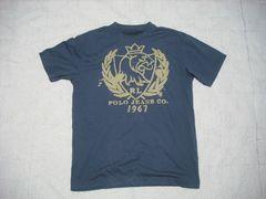 36 男 ラルフローレン 紺 半袖Tシャツ M