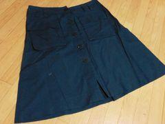【在庫セール】アニエスベー/ コットン100%膝丈スカート