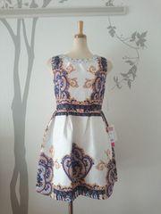 L ドレスワンピース Jewels スカーフ柄 ビジュー 新品 J17355