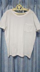 白のTシャツ★ポケット付★フリーサイズ