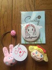 カーリーコレクション  ヘアゴム・缶バッチ・マグネット 新品