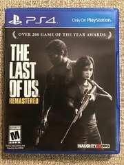 ラストオブアス リマスタード 北米版 美品 PS4