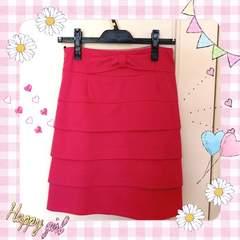 モバオクで買える「リボン付き ピンクのスカート♪」の画像です。価格は1,200円になります。