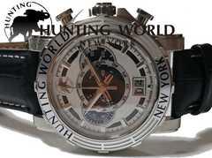 極レア 極美品 ハンティングワールド【クロノグラフ】大型腕時計