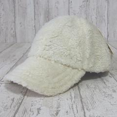 帽子♪タグ付き ボア ローキャップ アイボリー