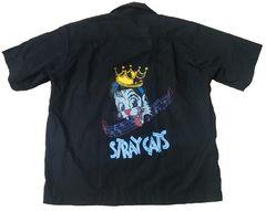 Stray Cats ストレイキャッツ ボーリングシャツ M ネオロカ