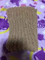 ハンドメイド 手編みマフラー モカ