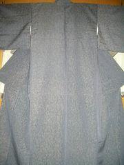 捩り織渋いお色の 袷の紬お着物 未使用品