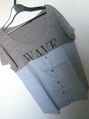 ページボーイ/PAGEBOYグレー×ストライプシャツTシャツ☆