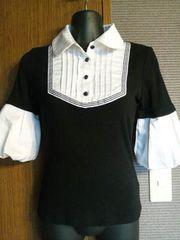 セシル×黒×白襟白袖の可愛いカットソー