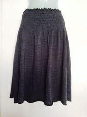 新品JEANASISジーナシス*2WAYニットスカート トップス ダークグレー フリーサイズ