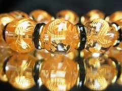 最高級天然石ブレスレット!!黄金皇帝龍クリスタル12ミリ数珠