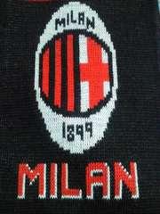 サッカー イタリア セリエA ACミラン マフラー ブラック レッド FORZA MILAN
