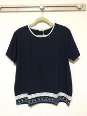 新品:サイズ4L:紺半袖シャツ