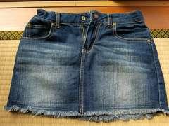デニム スカート 140�a 美品