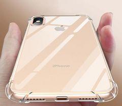 iphone XsMAX クリアラバー シリコンケース ショック軽減ケース