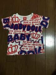 100スタ 100�p BABYDOLL 半袖Tシャツ 5